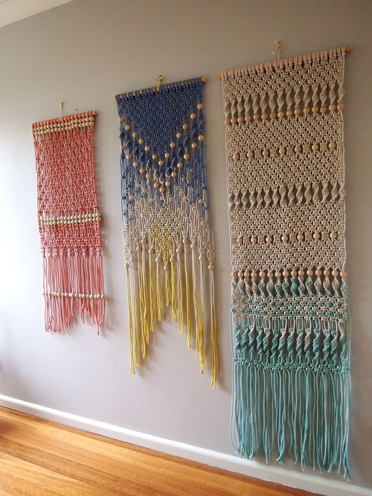 Philippa Taylor ouchflower — Dip Dyed Macrame Wall Hanging