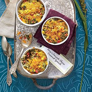 """""""Creamy spinach casserole has always been a favorite in my family, so it's a sure-fire hit for any gathering. The pimiento cheese flavors give it a uniquely Southern twist."""" --Perre Coleman Magness, author of Pimento Cheese: The Cookbook"""