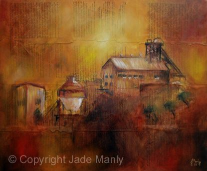 "Jade Manly - ""Industrial Mecca"" Outback Open Art Prize Australian Artist"