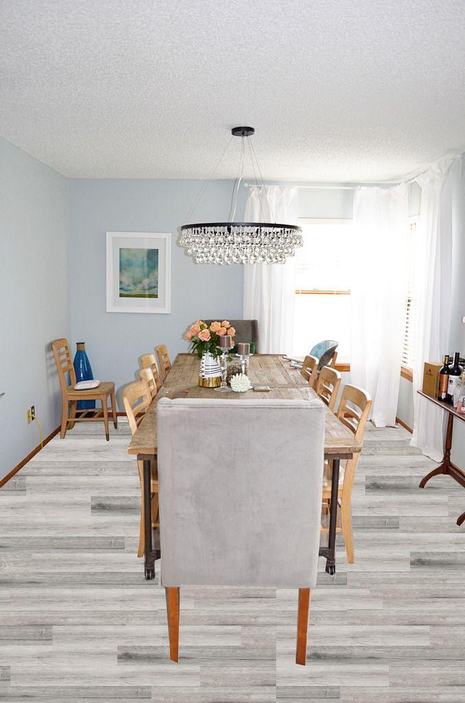 Amazing Gray Fake Wood Floor Tile...I Like You.