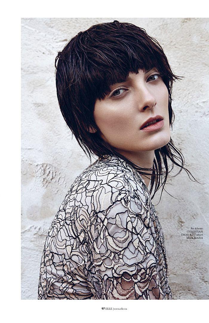 denisa punk shoot4 Denisa Dvorakova is Rock Glam for Elle Vietnam by Branislav Simoncik