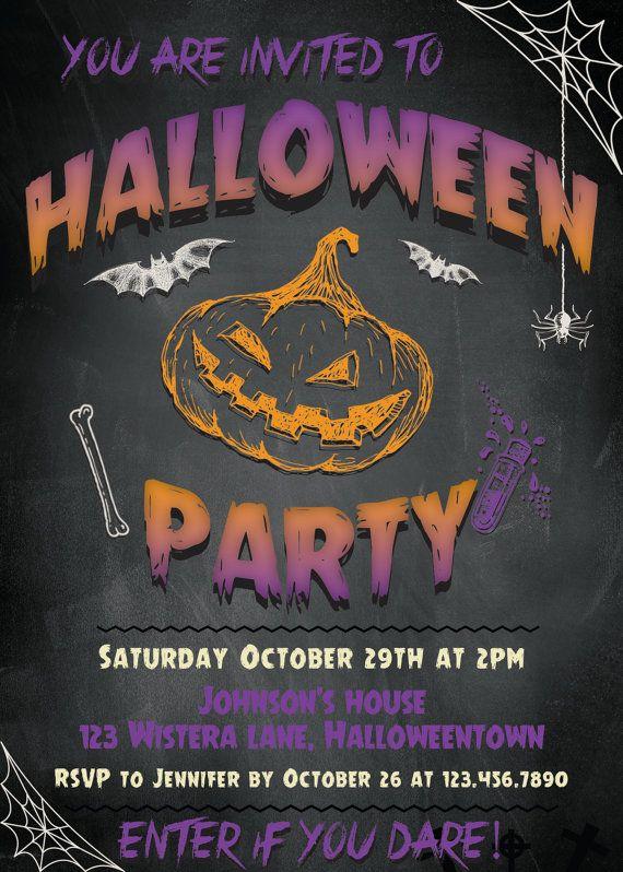 Printable Halloween party invitations Halloween invitations printable Adult halloween invitation download halloween invites Costume template #promo
