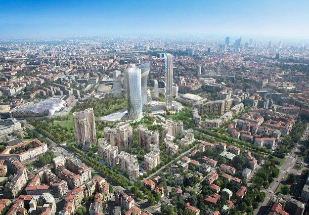 Milano CityLife Daniel Libeskind (ph. Milena Chessa / Le Moniteur.fr)Milano CityLife