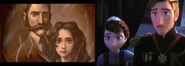 You know, Tarzan's parents look an awful lot like the the king and queen of  Arendelle. Maybe Elsa and Anna's parents didn't die, instead they washed up on an Island and had a baby boy. Could be possible?????<---- head cannon accepted.