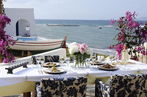 dinner in crete, greece