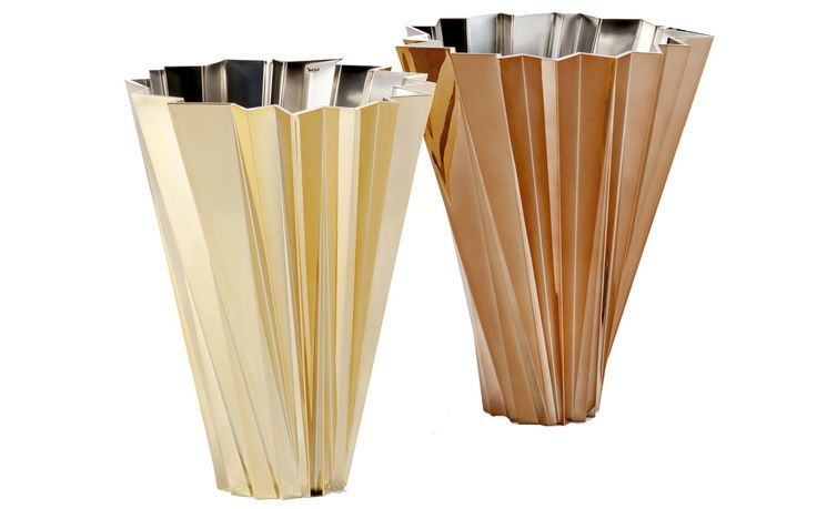 The Kartell Precious Shanghai Vase looking elegant as ever in gold and copper. #inspiration #design