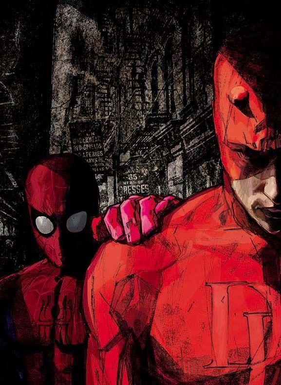 Daredevil & Spider-Man by Alex Maleev