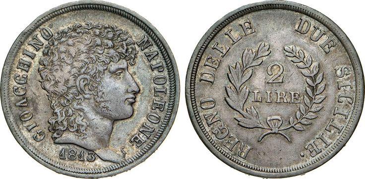 NumisBids: Numismatica Varesi s.a.s. Auction 65, Lot 500 : NAPOLI - GIOACCHINO MURAT (1808-1815) 2 Lire 1813. P.R. 15 MIR...