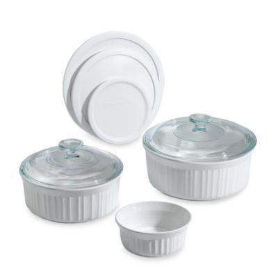 CorningWare® French White® 8-Piece Bakeware Set - BedBathandBeyond.com