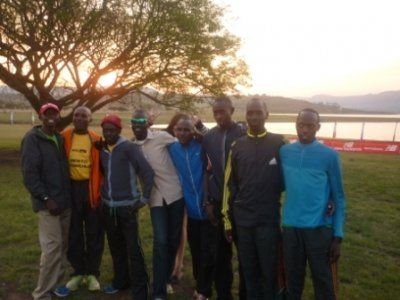 """My """"boys"""" from Kenya at their first Night Race, on Friday 07 October 2011"""