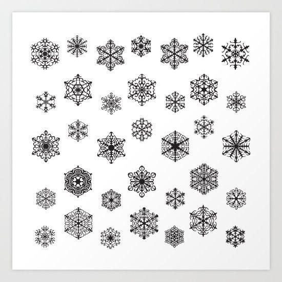 Snow by McGovern Studio Holiday Art Print