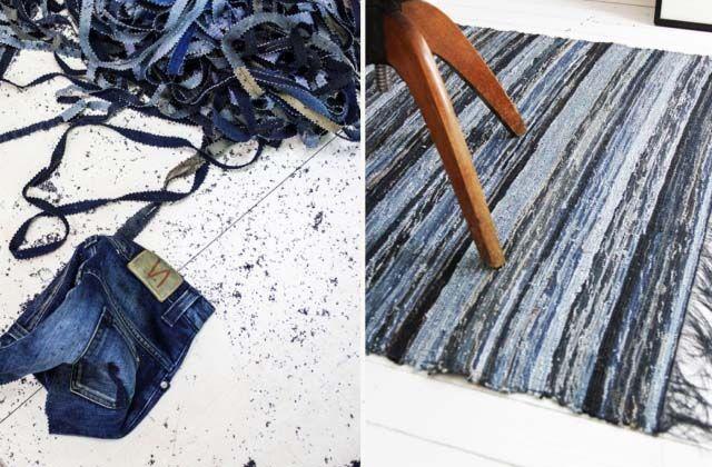 DIY INSPO: DENIM RUG - a pair & a spare
