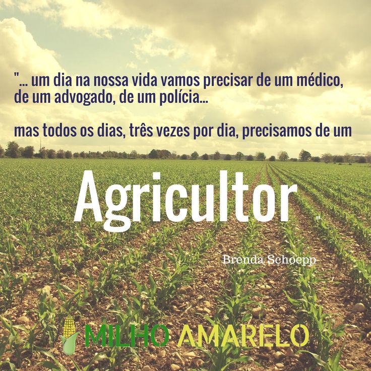 Todos os dias precisamos de Agricultores. Citação de Brenda Schoepp