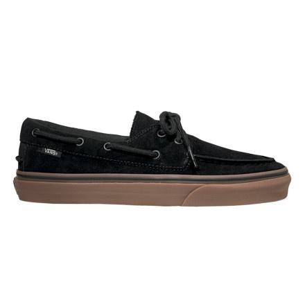 ced8223b0a Vans Zapato Del Barco Shoe - Mens (Suede) Black Gum