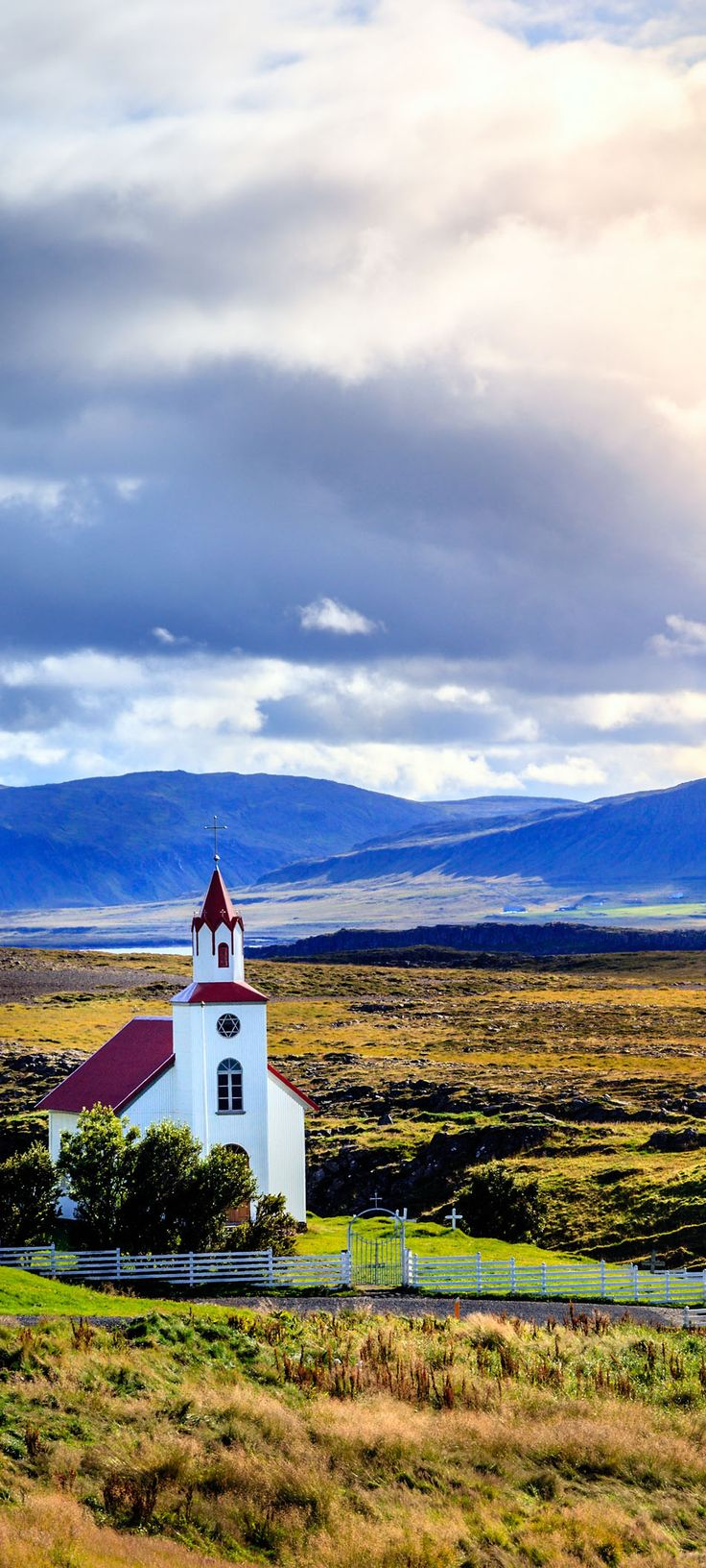 Traditional Icelandic church near Helgafell Mountain in western Iceland     |    16 Reasons Why You Must Visit Iceland Right Now. Amazing no. #12