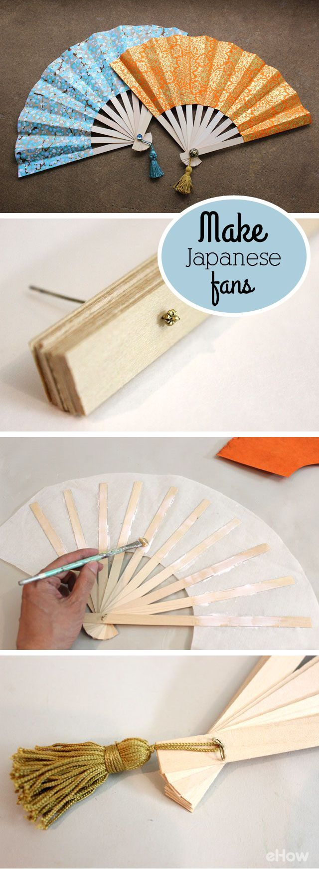 Japanese folding fans, also known as sensu, are as beautiful as they are functional. Love Japanese crafts? Learn to sew Japanese sewing at www.japanesesewingpatterns.com