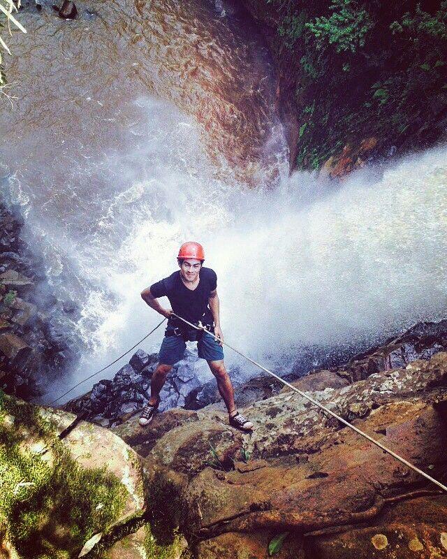 Rapel na cachoeira Chicão 2 faxinal-pr