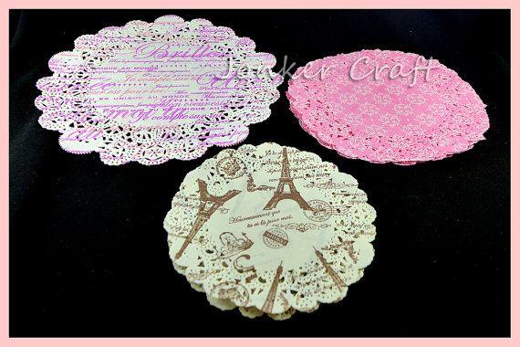 Pastel Doilie Lace Paper 3 Sweet Designs Doiley Craft Scrapbook Art