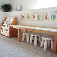 miss minimalist - clean uncluttered play space!