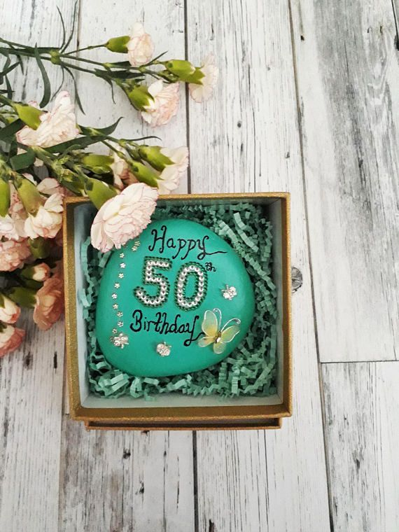 Personalised Gifts Ideas 50th Birthday Gift For Her Celebration Stone
