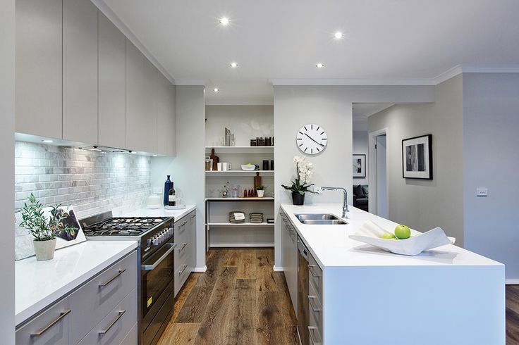 Bermuda display home kitchen with a Manhattan World of Style.