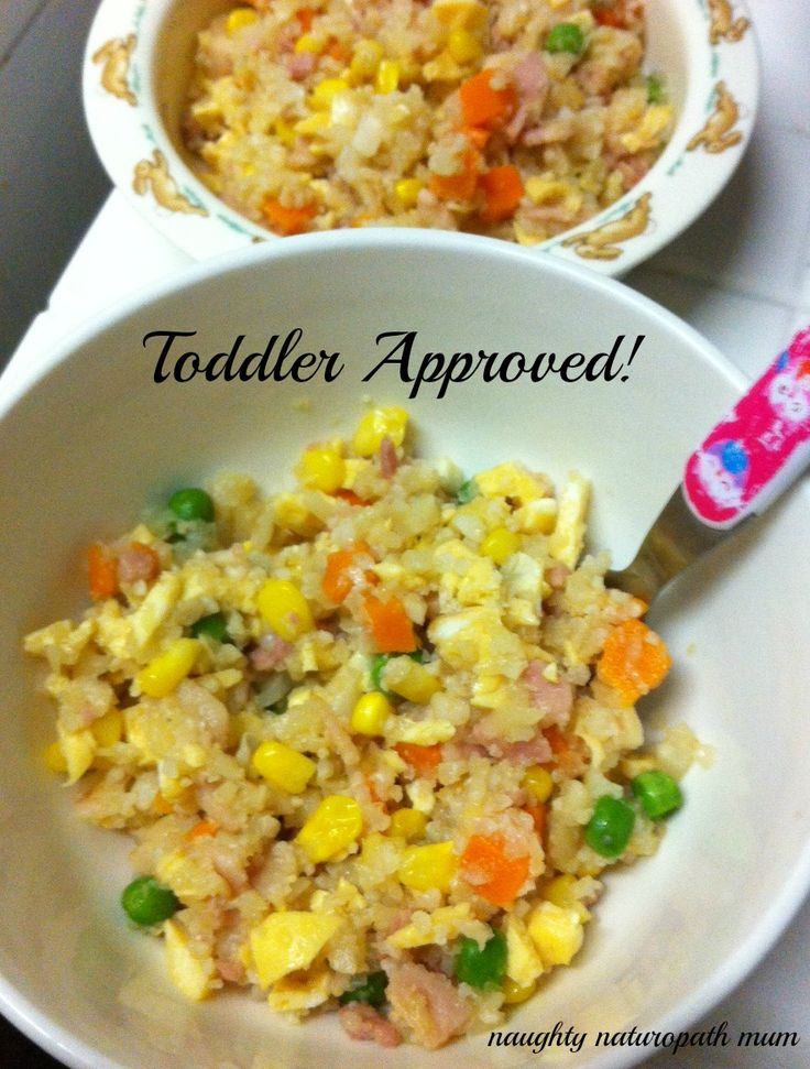 cauli rice toddler approved