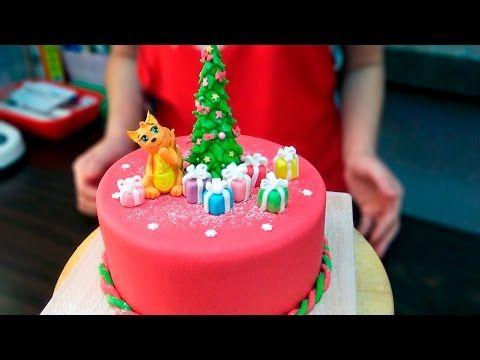 (5) Новогодний торт / Christmas cake - Я - ТОРТодел! - YouTube
