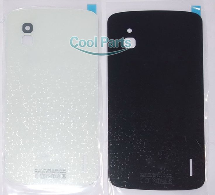 You Kit High Quatity New For LG Google Nexus 4 E960 Battery Back Rear Door Cover Glass Lens Case Housing With Sticker