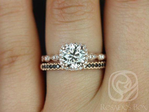 Christie 7mm & Kierra 14kt Rose Gold FB Moissanite Diamond