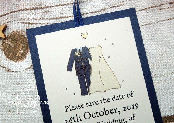 Mr and Mrs RAF Save the Date - www.theweddinginvitecompany.co.uk