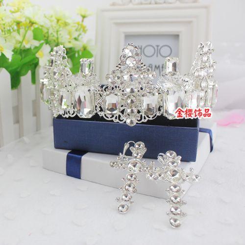 Большая корона головной убор цветок невесты бесплатная доставка корейской ручной кружева свадебное повязка на лбу аксессуары для волос свадебное платье в стиле барокко корона - Taobao