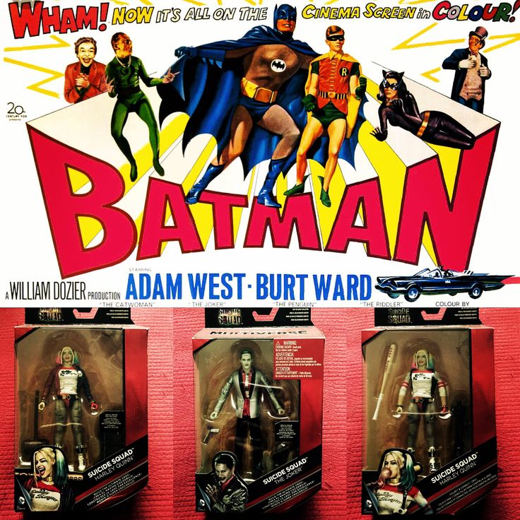 """""""Suicide Squad"""" is being released during the 50th anniversary of The Joker's live-action debut. In 1966, Cesar Romero debuted as The Joker in both the """"Batman"""" TV series and """"Batman: The Movie."""" #suicidesquad #suicidesquadfigures #dcfigures #dccomics #dccomicsmultiverse #harelyquinnandthejoker #harelyquinn #thejoker #batman1966 #bigolboxofstuff #bigolbox77"""
