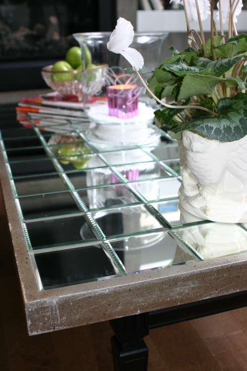 DIY Mirrored Coffee Table
