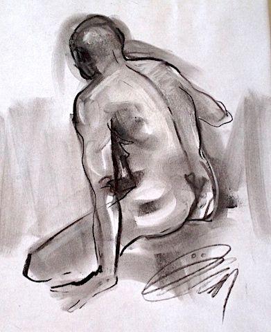 Tiffany-dos-ho-2014 #dessin #fusain #dos de ÖMiserany  disponible à l'atelier_ÖMiserany  omiserany.com