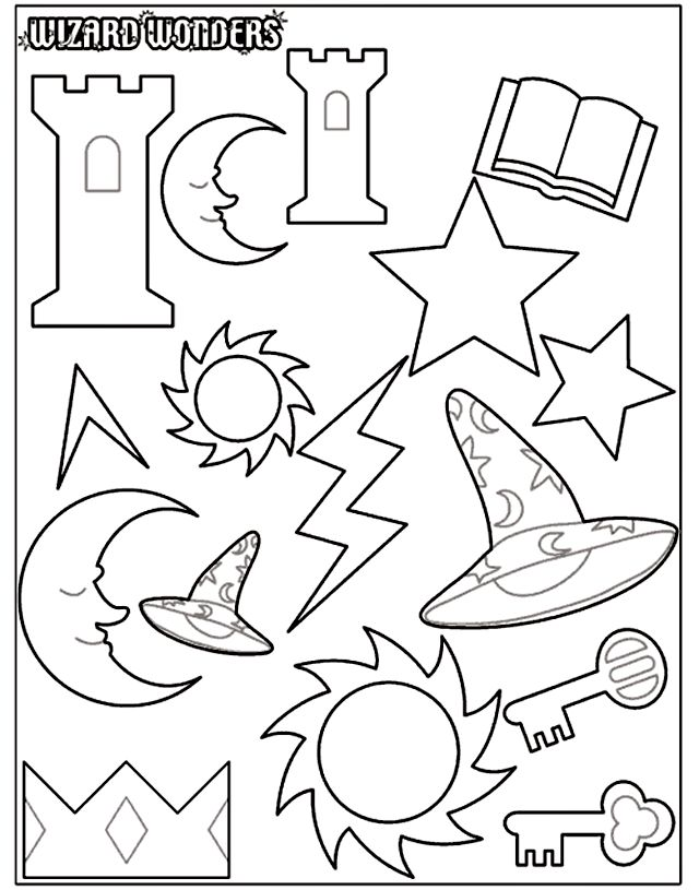 Wizard Wonders 2 Coloring Page