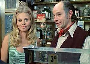 Britt Ekland as Willow McGregor, the landlord's daughter, with her father