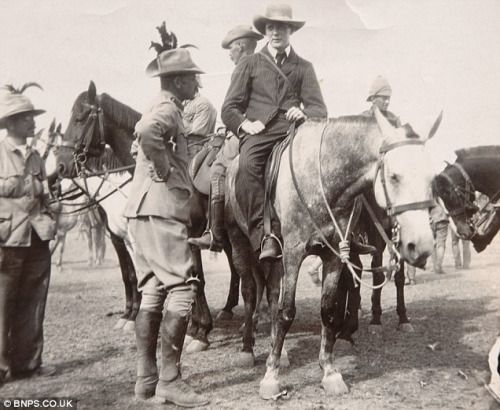 Winston Churchill after escaping from the Boer's POW camp in Pretoria, South Africa, in 1899.