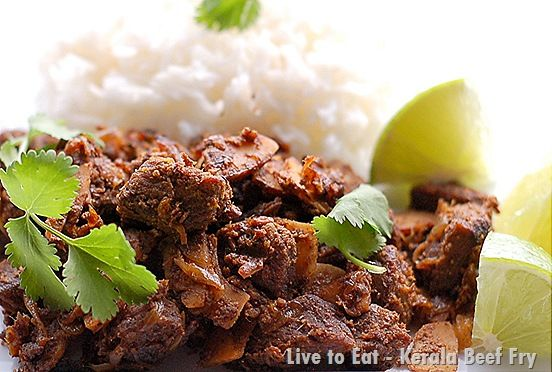 Kerala beef fry - tastes better the next day - this was one of my favorite dishes that my mother made