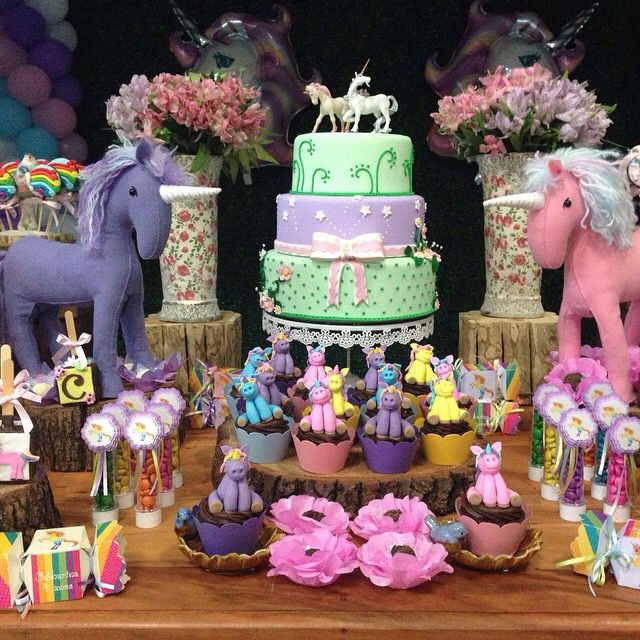 Festa infantil tema unicórnio Festa u00danicornio Pinterest -> Decoração De Festa Infantil Tema Unicornio