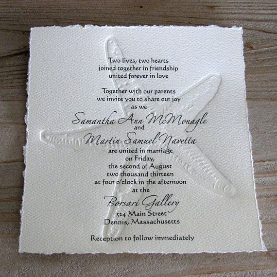 Gorgeous for a beach wedding 50 BEACH Wedding Invitations with Letterpress by AMInvitations, $125.00
