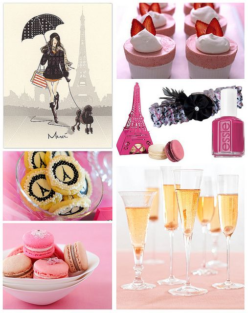 Parisian Party for the bride - perfect for a Bachelorette Party or Bridal Shower