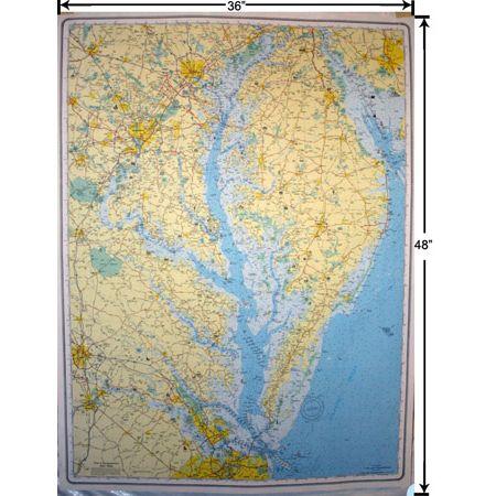chesapeake bay laminated wall map in 2020 wall maps on laminated wall maps id=13446