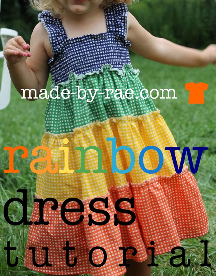 rainbow dress: Girls Dresses Diy, Little Girls, Summer Dresses, Dress Tutorials, Rainbows Dresses, Serger Projects, Shirring Dresses Tutorials, Sundresses Tutorials, Tops Sewing Tutorials