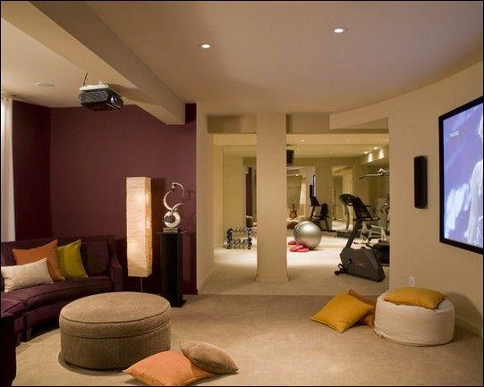 Basement ideas basement ideas interior design for Workout room colors