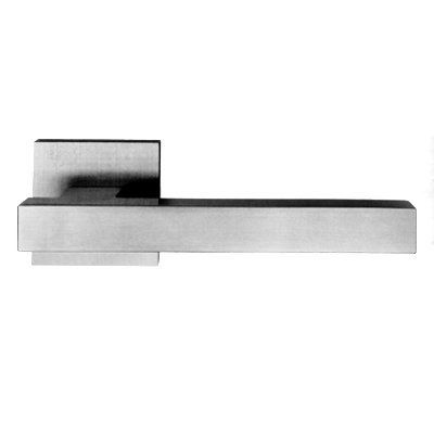 AHI Hardware sig122 Sigma Series Solid Square Lever Indoor Door Handle, Satin Stainless Steel