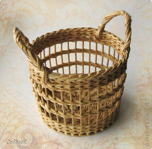 Поделка изделие Плетение Кленовое дубовое решетчатое  Трубочки бумажные фото 12