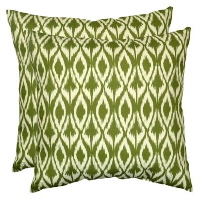 Threshold 2-Piece Outdoor Decorative Throw Pillow Set - Green Ikat. 2 for $24 at Target ...