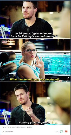 This isn't an actual line in arrow but I don't care I love it anyways!