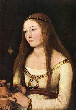 Katharina Schwarz, ca. 1509-1510  by Hans Holbein the Elder, ca. 1460-1531   Schlossmuseum, Schloss Friedenstein, Gotha