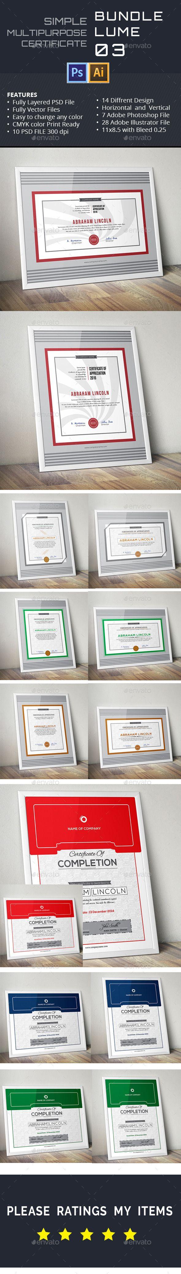 31 best psd templates certificate design images on pinterest simple multipurpose certificates vol 03 certificate designcertificate templatesinfographic templatespsd yadclub Images